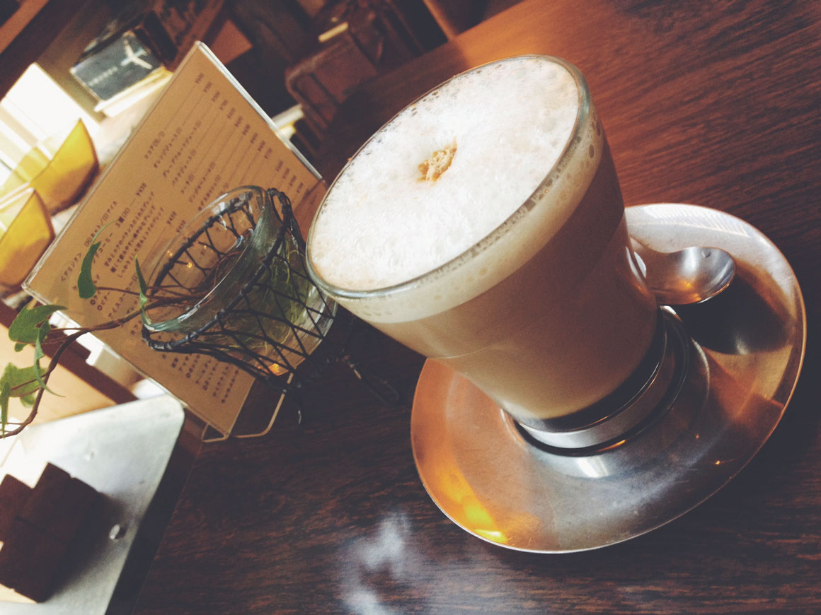 Beautiful Soyccino at the cute Kate Coffee in Tokyo.