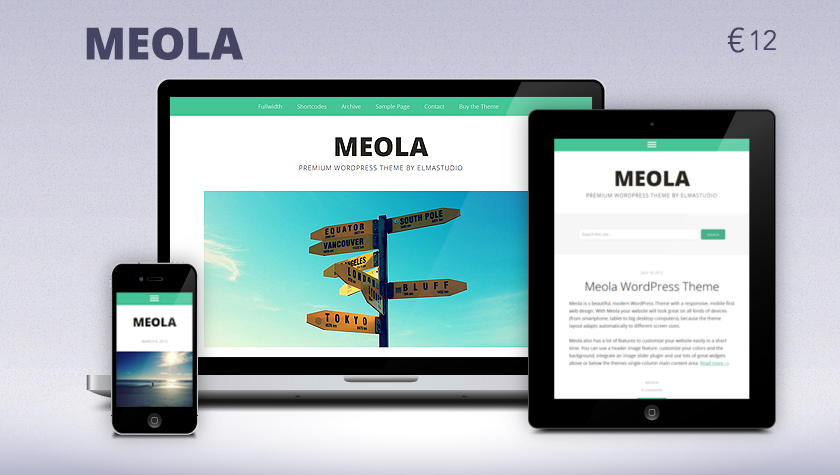 Premium responsive WordPress Theme Meola