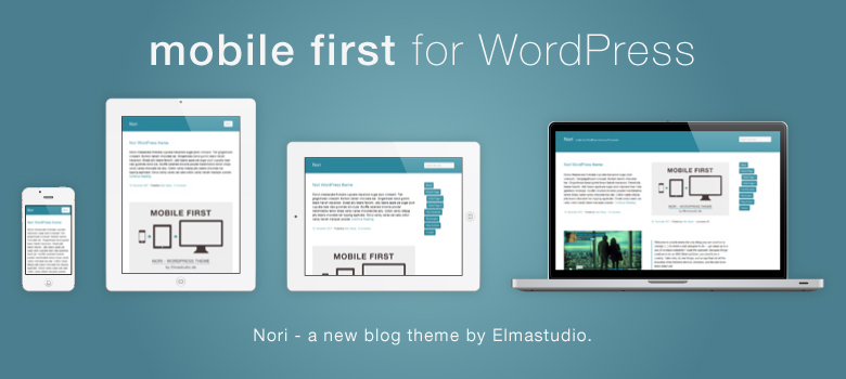 mobile-first, responsive WordPress theme Nori