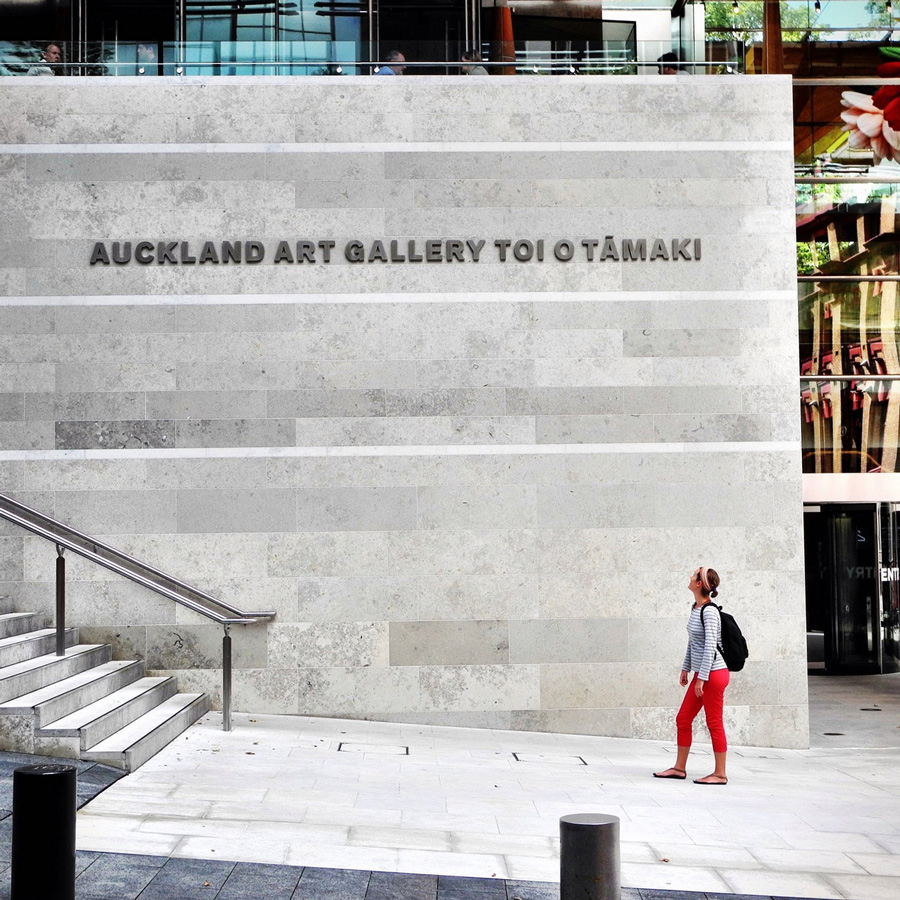 At the Auckland Art Gallery
